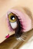 Woman's makeup. Detail of woman's makeup Royalty Free Stock Image