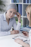 Woman's medical history Stock Images
