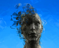 Woman's mind Royalty Free Stock Image