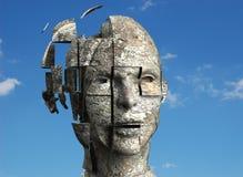 Woman's mind stock illustration