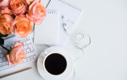 Woman's modern workspace Royalty Free Stock Images