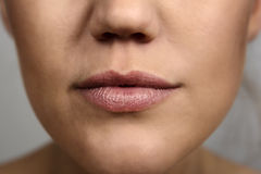 Woman's mouth Stock Images