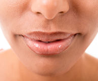 Woman's mouth close up Royalty Free Stock Images