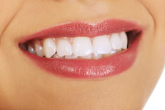 Woman's mouth with perfect smile. Royalty Free Stock Photo