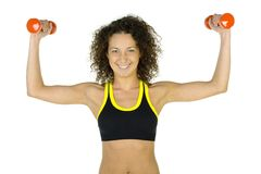 Woman's muscles Stock Image
