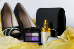 Woman's night accessories Stock Images