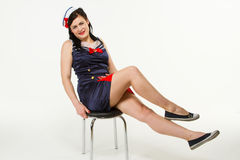 Woman in 1950´s Pin Up Style Royalty Free Stock Photography
