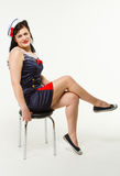 Woman in 1950´s Pin Up Style Stock Photos