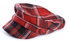 Woman\'s Plaid Hat Royalty Free Stock Image