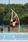Woman's Pole Vault Royalty Free Stock Photos