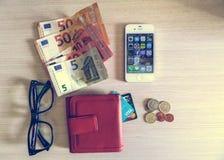 Woman& x27; s portfel Obraz Stock
