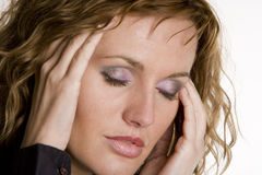 Woman's portrait. Portrait of young woman with closed eyes Royalty Free Stock Photo
