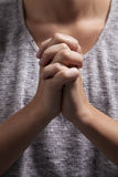 Woman's Praying Hands Royalty Free Stock Images