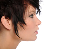 Woman's profile Stock Photography
