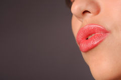 Woman's red lips Royalty Free Stock Photos
