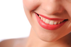 Woman's red lips Royalty Free Stock Image