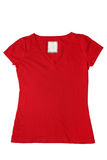 Woman's red t-shirt Royalty Free Stock Image
