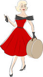 Woman from 50s. Retro fashion woman from 50s vector illustration