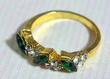 Woman's ring with precious metals Royalty Free Stock Photos