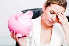 Woman's savings Stock Photography