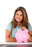 Woman's savings Stock Image