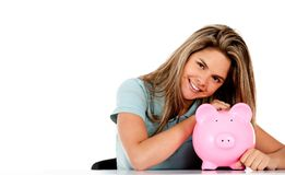Woman's savings Stock Images