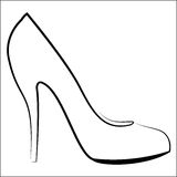 Woman's shoe Stock Images
