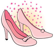 Woman's Shoes. An illustration of a pair of woman's high heel shoes Stock Photo