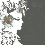 Woman's silhouette Royalty Free Stock Photos