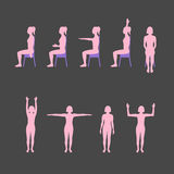 Woman's silhouettes set Stock Images