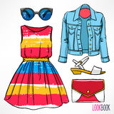 Woman's spring outfit Royalty Free Stock Photo