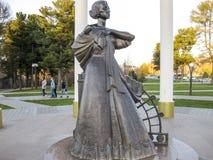 Woman's a statue stock photos