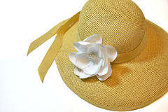 Womans Straw Hat Royalty Free Stock Images