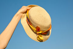 Woman's summer hat Stock Photos