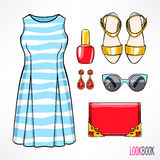Woman's summer outfit Stock Photography
