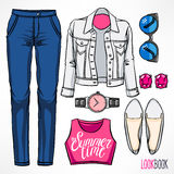 Woman's summer outfit - 2 Royalty Free Stock Photography