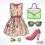 Woman's summer outfit Stock Images