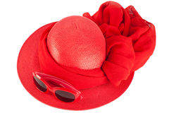 Woman`s summer red hat Royalty Free Stock Photo