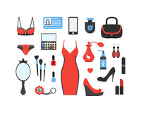 Woman`s things set Royalty Free Stock Image