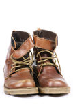 Woman's Tie Up Snow Boots royalty free stock photo