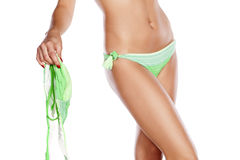 Woman's torso in a bikini Stock Images