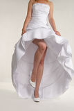 Woman S Torso In White Wedding Dress Stock Image