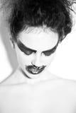 Woman& x27; s twarz z strachem w oczach Zdjęcia Royalty Free