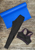 Woman's yoga outfit Royalty Free Stock Image