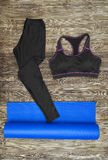 Woman's yoga outfit Stock Photography