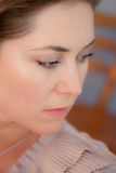 Woman is sad Royalty Free Stock Photography