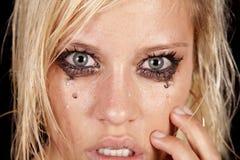 Woman sad close eyes Stock Photography