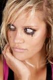 Woman sad looking off Stock Photos