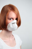 Woman with Safety Mask Stock Images