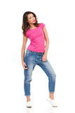 Woman In Saggy Jeans Stock Image